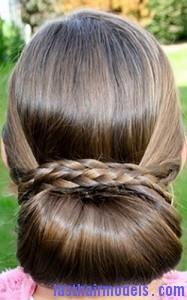 braid wrapped chignon2