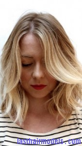 brassy blonde hair