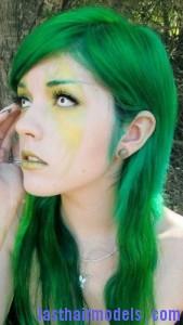 green hair8