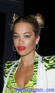 Awesome Rita Ora With A Double Bun Last Hair Models Hair Styles Last Hairstyles For Men Maxibearus
