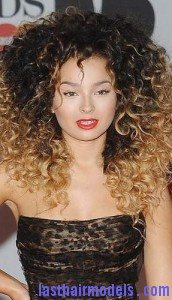 volumized curls