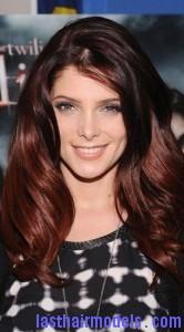 brunette red hair