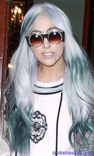 blue gray hair