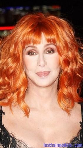 dark orange hair