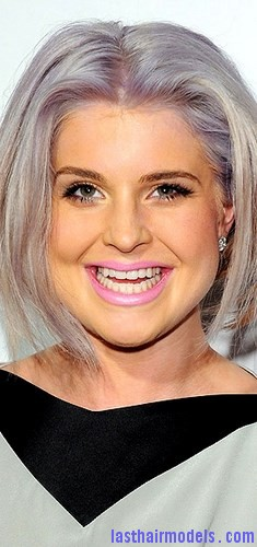 bright gray hair