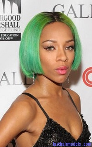 green hair color5